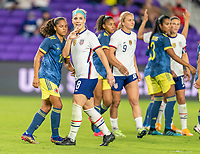ORLANDO, FL - JANUARY 22: Julie Ertz #8 of the USWNT stands in the box during a game between Colombia and USWNT at Exploria stadium on January 22, 2021 in Orlando, Florida.