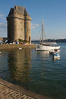 Europe/France/Bretagne/35/Ille et Vilaine/Saint-Malo/Saint-Servan-sur-mer: le port et la Tour Solidor batie en 1382 ,Musée International du  Long Cours Cap-Hornier