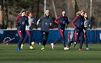 La Harve, France - January 17, 2019:  The USWNT trains in preparation for a friendly against France.