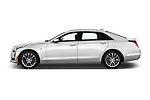 Car Driver side profile view of a 2017 Cadillac CT6 RWD 4 Door Sedan Side View