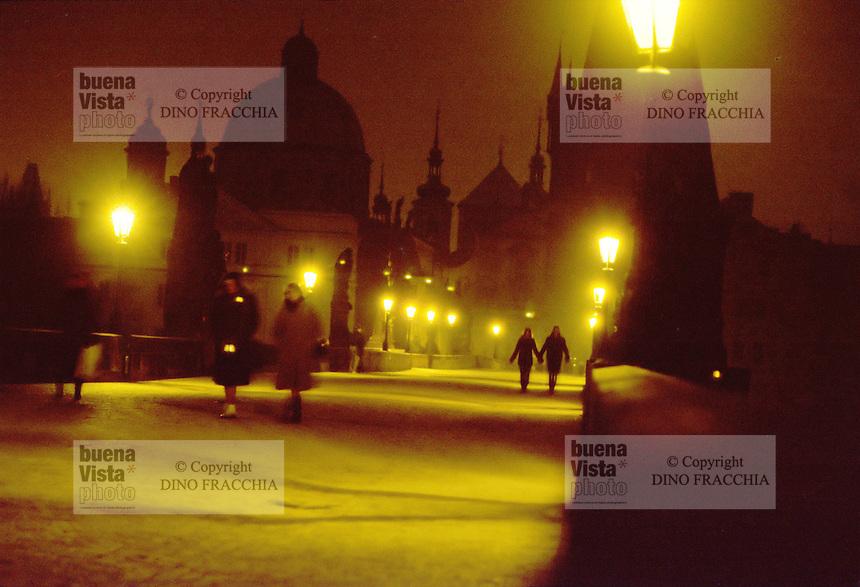 - Prague, King Carl bridge....- Praga, ponte Re Carlo