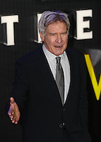 Harrison Ford attends the STAR WARS: 'The Force Awakens' EUROPEAN PREMIERE at Odeon, Empire & Vue Cinemas, Leicester Square, England on 16 December 2015. Photo by David Horn / PRiME Media Images
