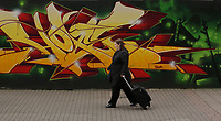Friday 12 May 2017<br />Pictured: Graffitis outside the site at Havelock Street in Cardiff, where Media Wales (Western Mail and Echo) used to be located. They have now moved to a smaller building adjacent to it in Wales, UK
