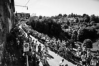 Eros Capecchi (ITA/Quick-Step Floors) up the steepest section towards the Città Alta in Bergamo<br /> <br /> Stage 15: Valdengo › Bergamo (199km)<br /> 100th Giro d'Italia 2017
