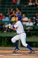 May 7 2010: David Macias (1) of the  Daytona Cubs during a game vs. the Clearwater Threshers at Jackie Robinson Ballpark in Daytona Beach, Florida. Daytona, the Florida State League High-A affiliate of the Chicago Cubs, lost the game against Clearwater, affiliate of the Philadelphia Phillies, by the score of 8-3.  Photo By Scott Jontes/Four Seam Images
