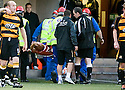 24/08/2010   Copyright  Pic : James Stewart.sct_jsp014_alloa_v_aberdeen  .:: FRASER FYVIE IS CARRIED OFF  :: .James Stewart Photography 19 Carronlea Drive, Falkirk. FK2 8DN      Vat Reg No. 607 6932 25.Telephone      : +44 (0)1324 570291 .Mobile              : +44 (0)7721 416997.E-mail  :  jim@jspa.co.uk.If you require further information then contact Jim Stewart on any of the numbers above.........