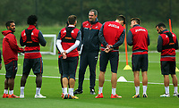 Manager Paul Clement gives instructions to his players during the Swansea City Training at The Fairwood Training Ground, Swansea, Wales, UK. Wednesday 27 September 2017