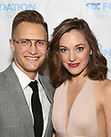 """Nathan Johnson and Laura Osnes during The """"Mr. Abbott"""" Award 2019 at The Metropolitan Club on 3/25/2019 in New York City."""