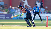 Safyaan hits out for Kent during Kent Spitfires vs Sussex Sharks, Vitality Blast T20 Cricket at The Spitfire Ground on 18th July 2021