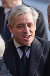 © Joel Goodman - 07973 332324 . 16/01/2014 . Salford , UK . JOHN BERCOW MP , the Speaker of the House of Commons and Conservative MP for Buckingham , arrives for the funeral . The funeral of Labour MP Paul Goggins at Salford Cathedral today (Thursday 16th January 2014) . The MP for Wythenshawe and Sale East died aged 60 on 7th January 2014 after collapsing whilst out running on 30th December 2013 . Photo credit : Joel Goodman