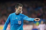 Referee Wolfgang Stark during Champions League soccer match between Atletico de Madrid and Olympiacos at Vicente Calderon stadium in Madrid, Spain. November 26, 2014. (ALTERPHOTOS/Victor Blanco)