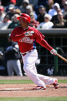 March 4, 2010:  Juan Castro of the Philadelphia Phillies during a Spring Training game at Bright House Field in Clearwater, FL.  Photo By Mike Janes/Four Seam Images