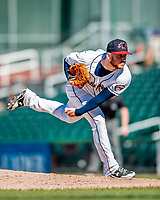 18 July 2018: New Hampshire Fisher Cats pitcher Travis Bergen on the mound against the Trenton Thunder at Northeast Delta Dental Stadium in Manchester, NH. The Fisher Cats defeated the Thunder 3-2 in a 7-inning, second game of the day. Mandatory Credit: Ed Wolfstein Photo *** RAW (NEF) Image File Available ***