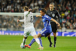Real Madrid´s Toni Kroos and FC Shalke 04´s Leroy Sane during 2014-15 Champions League match between Real Madrid and FC Shalke 04 at Santiago Bernabeu stadium in Madrid, Spain. March 10, 2015. (ALTERPHOTOS/Luis Fernandez)