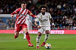 Real Madrid's Marcelo Vieira and Girona FC's Alex Granell during Copa del Rey match between Real Madrid and Girona FC at Santiago Bernabeu Stadium in Madrid, Spain. January 24, 2019. (ALTERPHOTOS/A. Perez Meca)