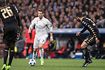 Cristiano Ronaldo of Real Madrid fights for the ball with Raul Albiol ans Kalidou Koulibaly of SSC Napoli during the match Real Madrid vs Napoli, part of the 2016-17 UEFA Champions League Round of 16 at the Santiago Bernabeu Stadium on 15 February 2017 in Madrid, Spain. Photo by Diego Gonzalez Souto / Power Sport Images