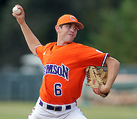 October 25, 2009: Dominic Leone of the Clemson Tigers in an intra-squad Orange and Purple scrimmage game at the end of fall practice at Doug Kingsmore Stadium in Clemson, S.C. Photo by: Tom Priddy/Four Seam Images