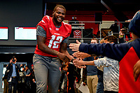 Washington, DC - Sunday JAN 26, 2020: DC Defenders quarterback Cardale Jones (12) is introduced to the fans at the DC Defenders open house at  Audi Field in Washington, DC. (Photo by Phil Peters/Media Images International)