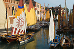 Arsenale suburb of Venice Italy  local sailing boats 2009 2000s H