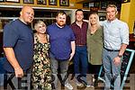 James Grady, Sarah Scanlon, Dan O'Sullivan, Gavin Griffin, David O'Grady and Susan Griffin  enjoying the evening in the Brogue Inn on Friday.