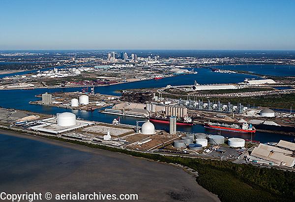 aerial photograph Kinder Morgan Bulk Terminals Port of Tampa, Florida