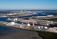 aerial photograph Kinder Morgan Bulk Terminals Port of Tampa, Florida