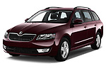 Front three quarter view of a 2014 Skoda Octavia Ambition Wagon2014 Skoda Octavia Ambition Wagon
