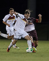 The Winthrop University Eagles played the College of Charleston Cougars at Eagles Field in Rock Hill, SC.  College of Charleston broke the 1-1 tie with a goal in the 88th minute to win 2-1.  Patrick Barnes (11), Daan Brinkman (4)