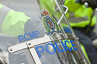 RCMP GRC Police motorcycle is seen during a police memorial parade in Ottawa Sunday September 26, 2010.