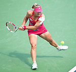 Angelique Kerber of Germany loses the final at the Western & Southern Open in Mason, OH on August 19, 2012.
