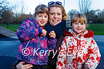 Enjoying the playground in the Tralee town park on Sunday, l to r: Adeline Palleschi, Jennifer and Louisa Twomey