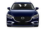 Car photography straight front view of a 2019 Mazda Mazda6 Skycrusie 5 Door Wagon Front View