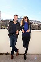 Nicolas Bedos et Doria Tillier - Conférence de presse à l'avant première du film 'Mr et Mme Adelman' à Marseille, le 26 février 2017. # NICOLAS BEDOS ET DORIA TILLIER AU PHOTOCALL DE 'MR ET MME ADELMAN' A MARSEILLE