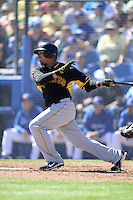 Outfielder Jose Tabata (31) of the Pittsburgh Pirates during a spring training game against the Toronto Blue Jays on February 28, 2014 at Florida Auto Exchange Stadium in Dunedin, Florida.  Toronto defeated Pittsburgh 4-2.  (Mike Janes/Four Seam Images)