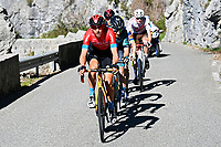 14th March 2021, Levens, France;  TEUNS Dylan (BEL) of Bahrain - Victorious during stage 8 of the 79th edition of the 2021 Paris - Nice cycling race, a stage of 92,7 kms between Plan-du-Var and Levens on March 14, 2021 in Levens, France