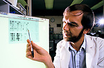 Professor Sir Alec Jeffreys  Leicester University discovered how to make a  genetic fingerprint UK 1992, 1990s.