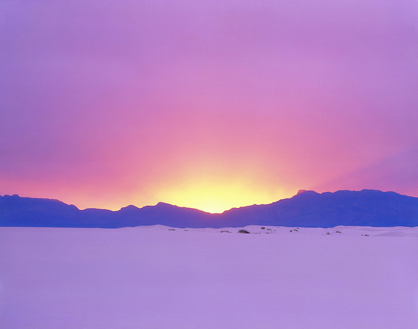 Sunset in White Sands National Monument, Alamogordo, New Mexico, USA. .  John offers private photo tours and workshops throughout Colorado. Year-round. .  John offers private photo tours in Arizona and and Colorado. Year-round.