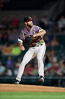 Rochester Red Wings relief pitcher Jake Reed (40) delivers a pitch during a game against the Lehigh Valley IronPigs on June 29, 2018 at Frontier Field in Rochester, New York.  Lehigh Valley defeated Rochester 2-1.  (Mike Janes/Four Seam Images)
