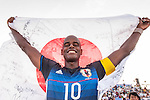 MOREIRA Ozu of Japan celebrates after winning the Beach Soccer Men's Team Gold Medal Match between Japan and Oman on Day Nine of the 5th Asian Beach Games 2016 at Bien Dong Park on 02 October 2016, in Danang, Vietnam. Photo by Marcio Machado / Power Sport Images