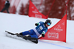 Parallel Slalom event of the FIS Snowboard World Cup on 19/12/2019 in Carezza, Italy.<br />  Naiying Gong (CHN)