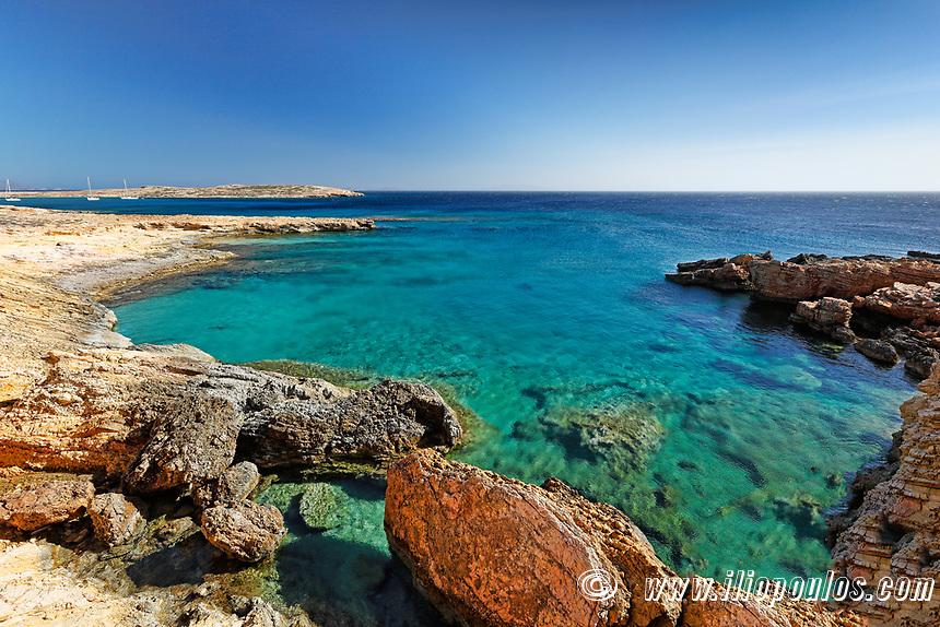 A beach of Koufonissi island in Cyclades, Greece