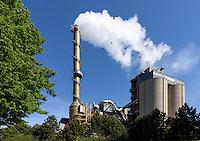 Zementwerk in Slite auf der Insel Gotland, Schweden, Europa<br /> cement works in Slite, Isle of Gotland Sweden
