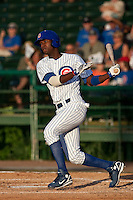 Junior Lake (5) of the Daytona Cubs during a game vs. the Brevard County Manatees May 25 2010 at Jackie Robinson Ballpark in Daytona Beach, Florida. Daytona won the game against Brevard by the score of 5-3.  Photo By Scott Jontes/Four Seam Images