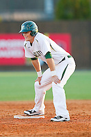 Justin Seager (10 of the Charlotte 49ers stands on second base during the game against the Delaware State Hornets at Robert and Mariam Hayes Stadium on February 15, 2013 in Charlotte, North Carolina.  The 49ers defeated the Hornets 13-7.  (Brian Westerholt/Four Seam Images)
