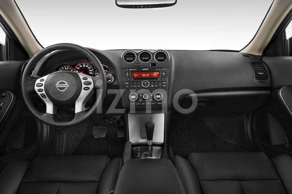 Straight dashboard view of a 2008 Nissan Altma Coupe