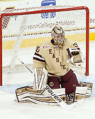 Thatcher Demko (BC - 30) - The visiting College of the Holy Cross Crusaders defeated the Boston College Eagles 5-4 on Friday, November 29, 2013, at Kelley Rink in Conte Forum in Chestnut Hill, Massachusetts.