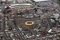 Pictured: The area where the Vetch Field, former home ground of Swansea City Football Club ground was, Quadrant shopping centre and bus station (TOP). 16 September 2011<br />