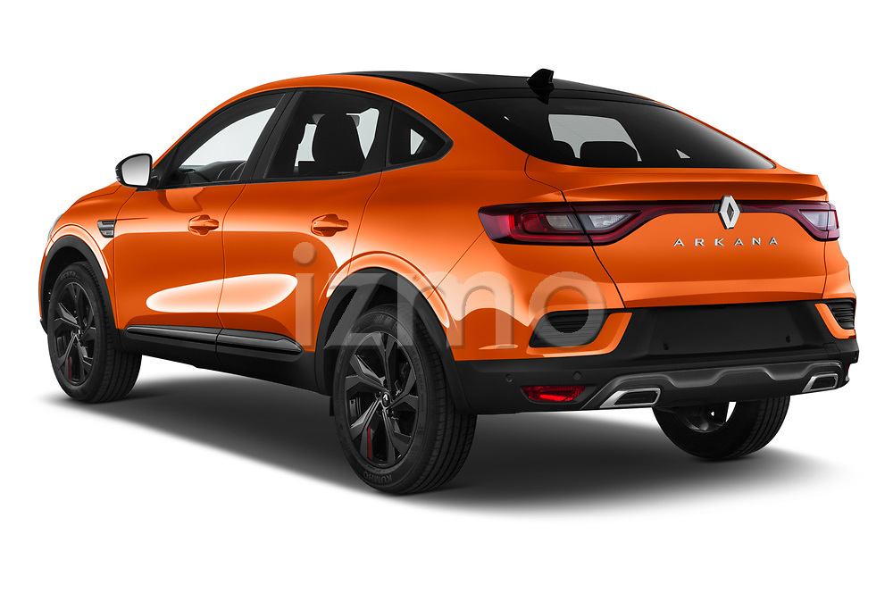 Car pictures of rear three quarter view of 2021 Renault Arkana RS-Line 5 Door SUV Angular Rear