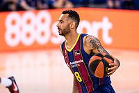 11th April 2021; Palau Blaugrana, Barcelona, Catalonia, Spain; Liga ACB Basketball, Barcelona versus Real Madrid; 8 Hanga  of Barcelona during the Liga Endesa match