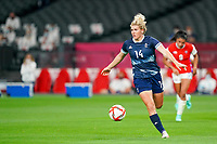 21st July 2021; Sapporo, Japan; Millie Bright 14 GBR controls the ball  during the womens Olympic Football Tournament Tokyo 2020 match between Great Britain and Chile at Sapporo Dome in Sapporo, Japan. Great Britain won the game by a score of 2-0